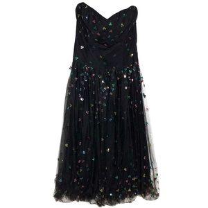 Vintage Sequin Midi Dress